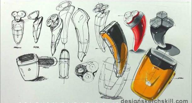 产品手绘-工业设计快题-银火网-室内设计培训与平面
