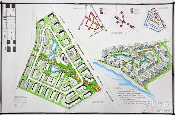 规划考研考题设计手绘图-城市规划快题-银火网-室内与