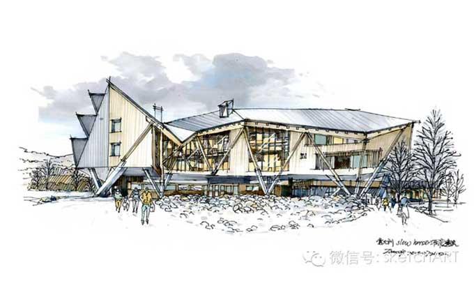 现代建筑马克笔手绘【emad作品】-其他设计-建筑设计