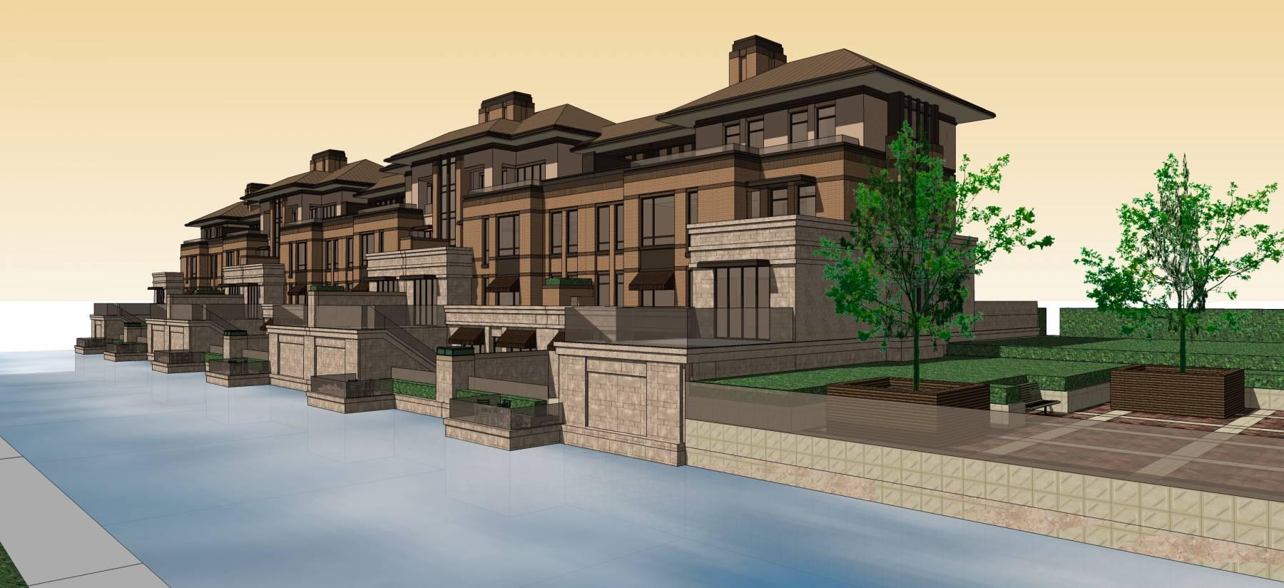 碧水庄园新古典风格别墅设计