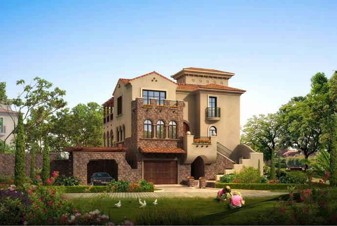 新古典主义别墅庭院景观设计