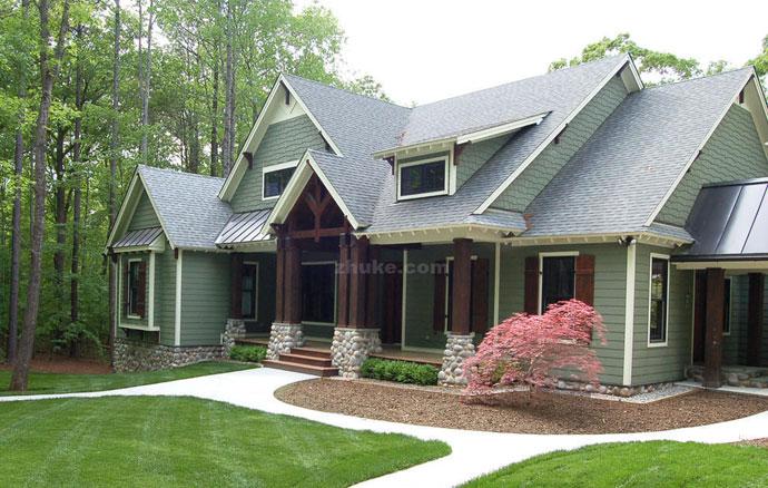 现代美式乡村别墅 已经变成这个样 叫新美式