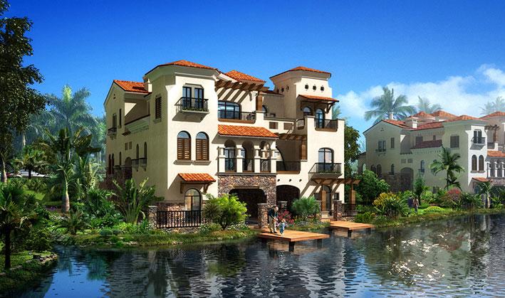 花园般的西班牙豪华现代别墅外形设计