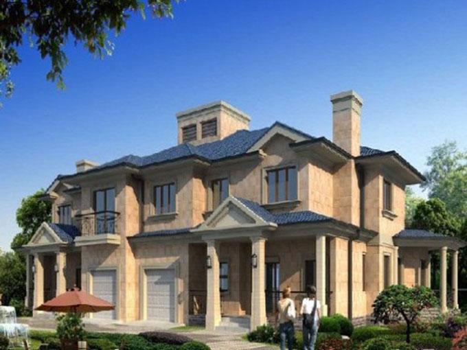 别墅折线远洋设计-多条私家设计-建筑设计graphpad绘制别墅庄园图片