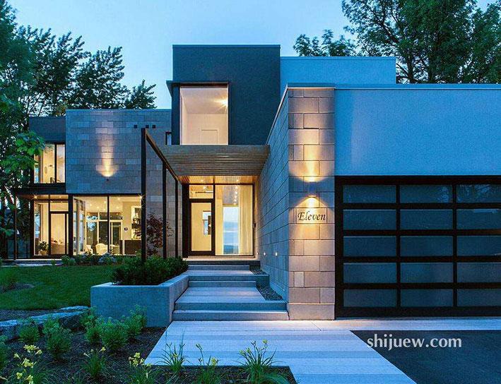 一些值得学习的现代别墅外立面设计
