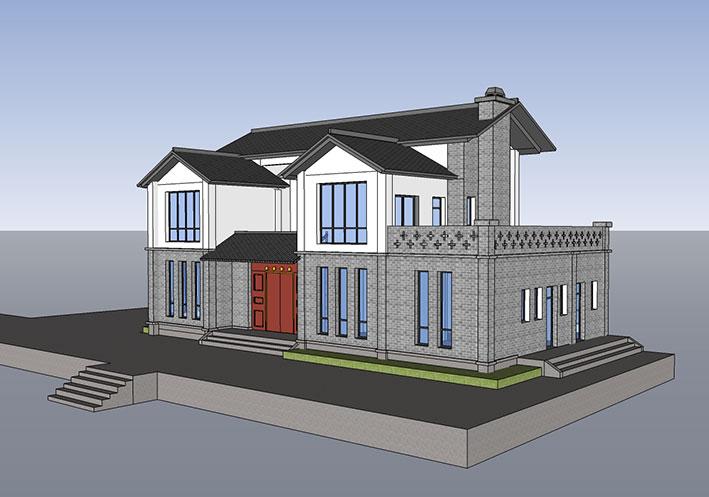 银火设计员工为大足业主设计的自建房