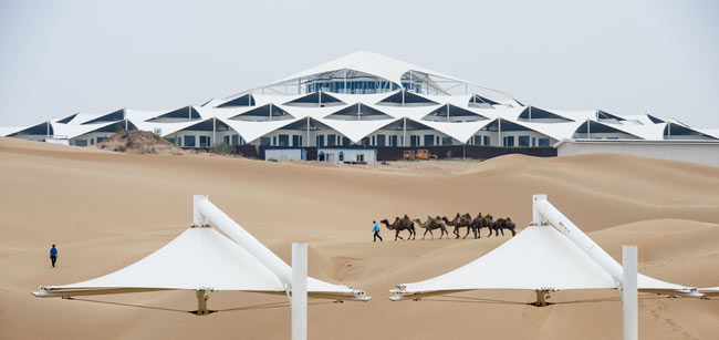 沙漠酒店-酒店建筑-银火设计官网—建筑设计公司—院