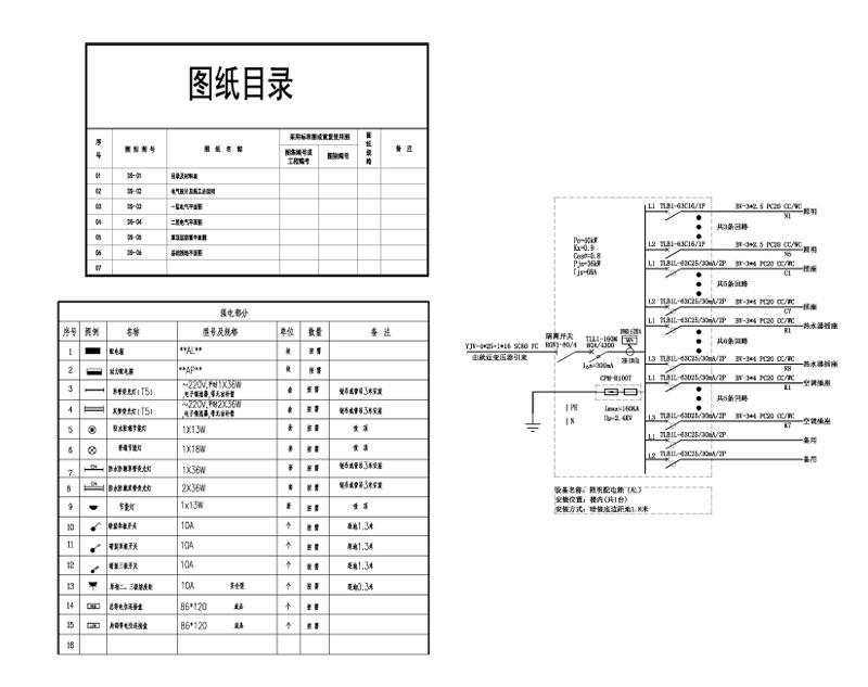 四川达州郭老师民宿电气施工图