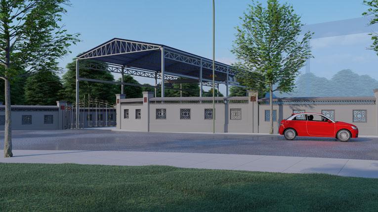 邻水基地安全改造Lumion建筑方案设计