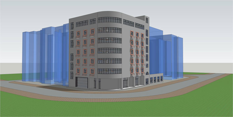 花卉园安全改造SU建筑方案设计