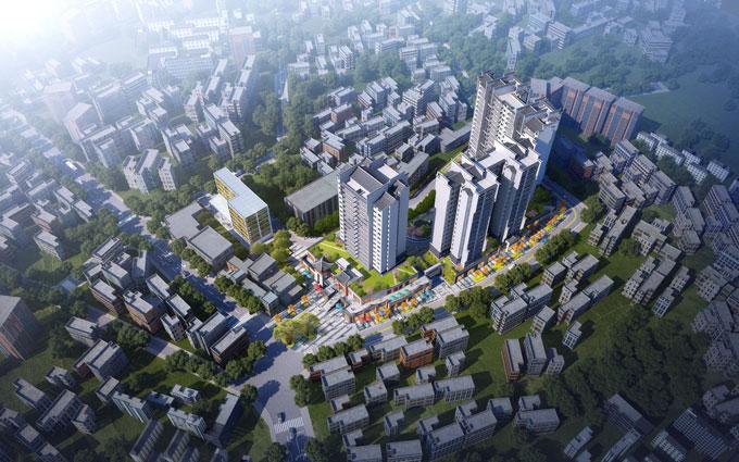 永仁县四方金街建筑规划设计